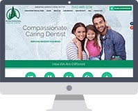 Dental website on computer
