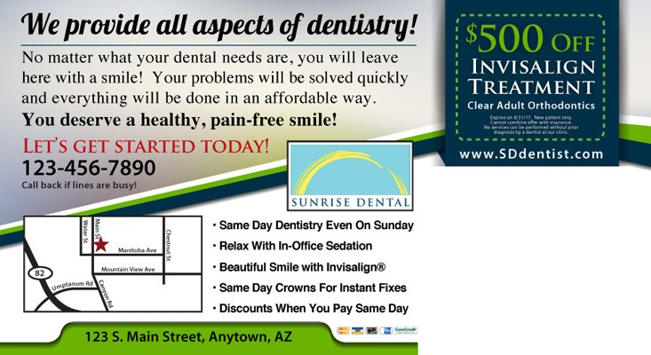 Sunrise Dental postcard