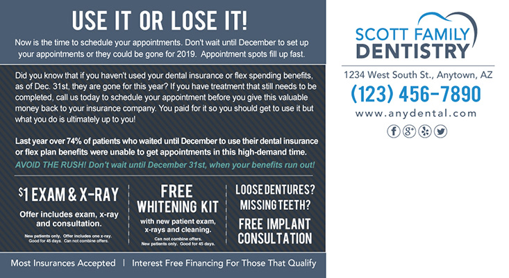 Scott Family Dentistry postcard