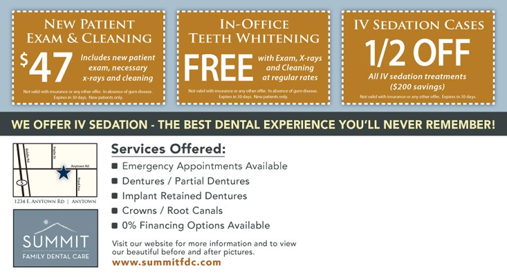 Summit Family Dental Care postcard