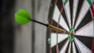 dart board symbolizing targeted mailing list